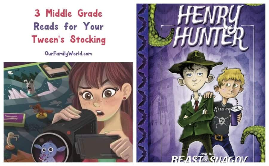 Looking for great Christmas gift ideas for your tween's stocking? These three middle-grade reads full of excitement and adventure are sure to encourage your preteen to hit the books over the holiday break!