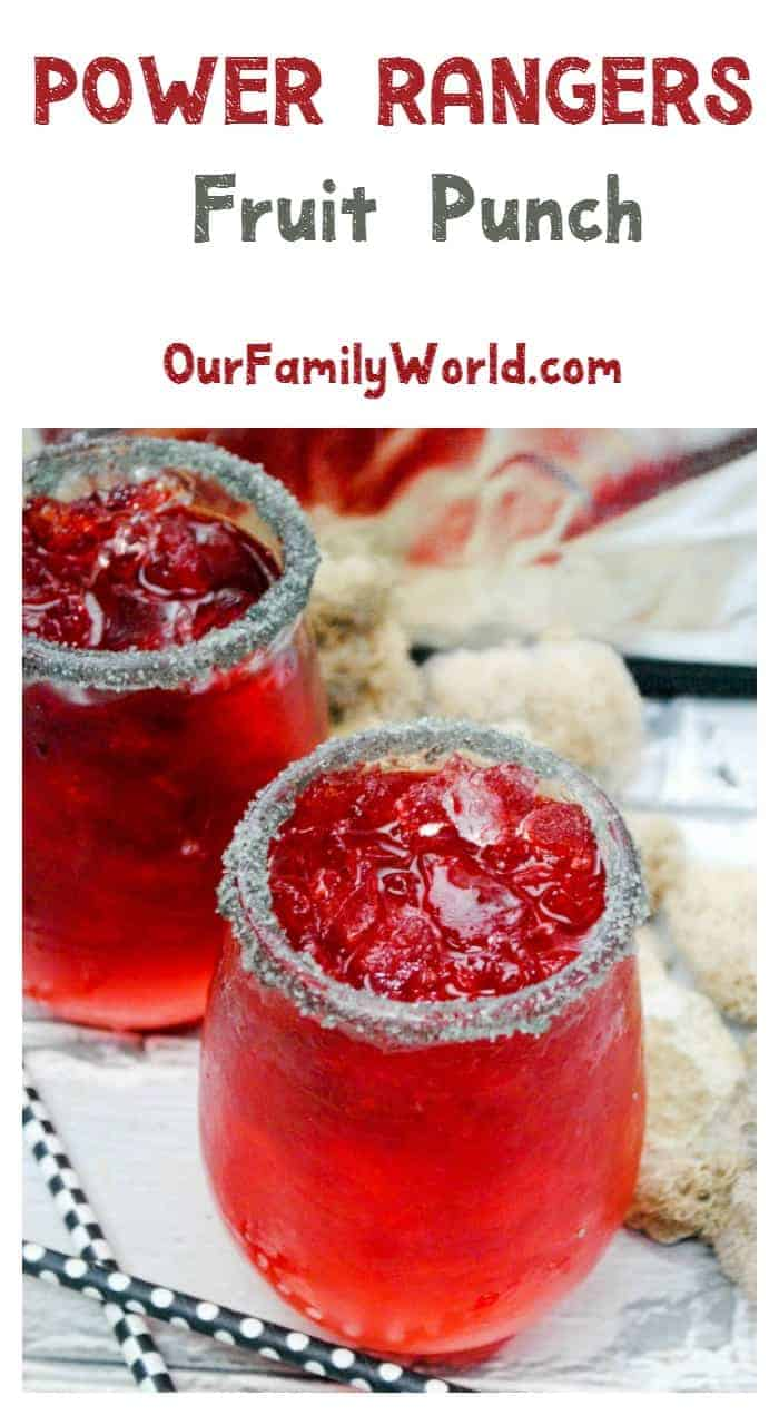 Get ready to spring into action & plan the ultimate superhero party with our tasty Power Rangers movie punch recipe! Perfect for kids, since it's a non-alcoholic drink!
