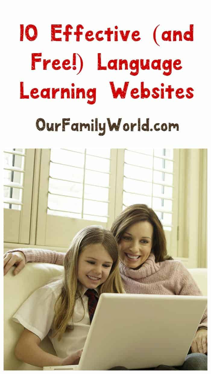 Looking for amazing parenting resources & tips to help teach your kids another language? Check out these free language learning websites!