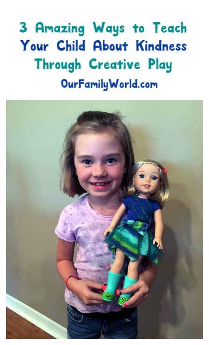 The WellieWishers from American Girl are perfect for teaching your kids kindness & compassion! Check out our review + three ways they help teach your kids to be kind through creative play!