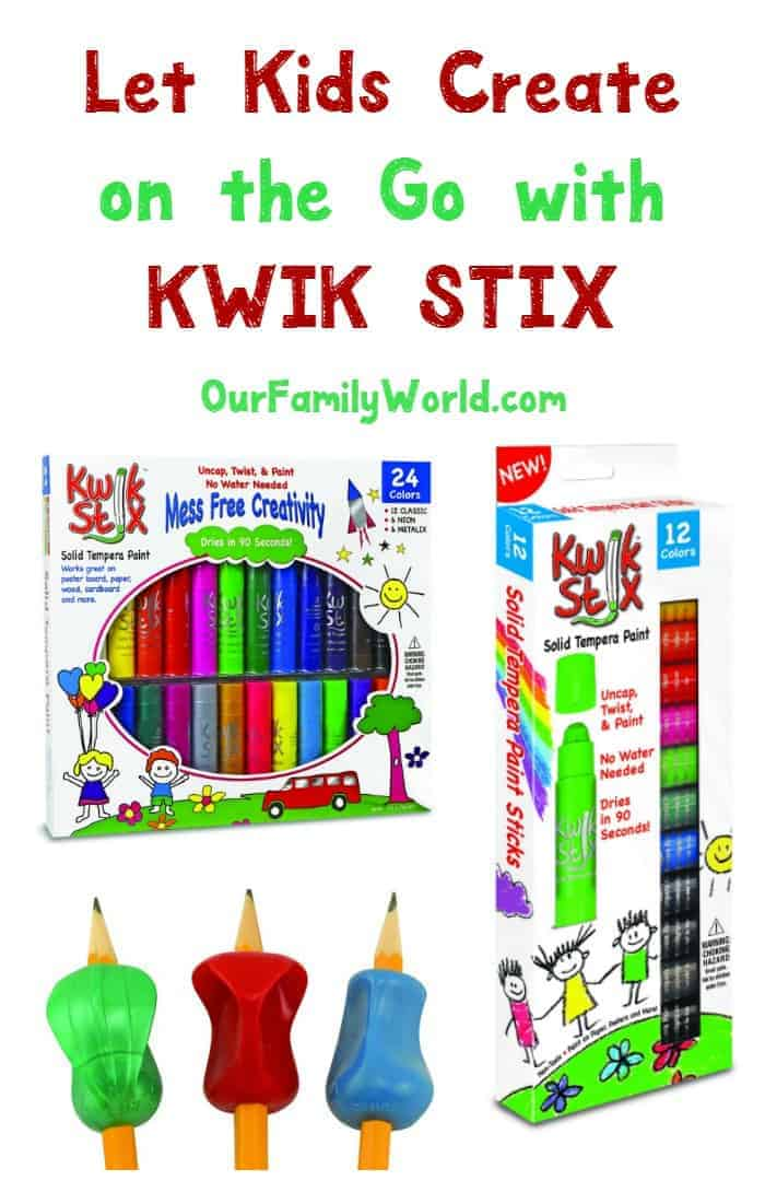 Let your kids create on the go without making a mess with Kwik Stix! They make a great stocking stuffer too!