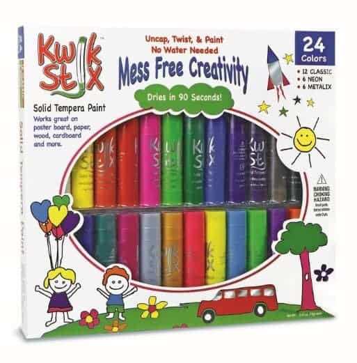 Let your kids create on the go without making a mess with Kwik Stix! They make a great stocking stuffer too! Check them out!