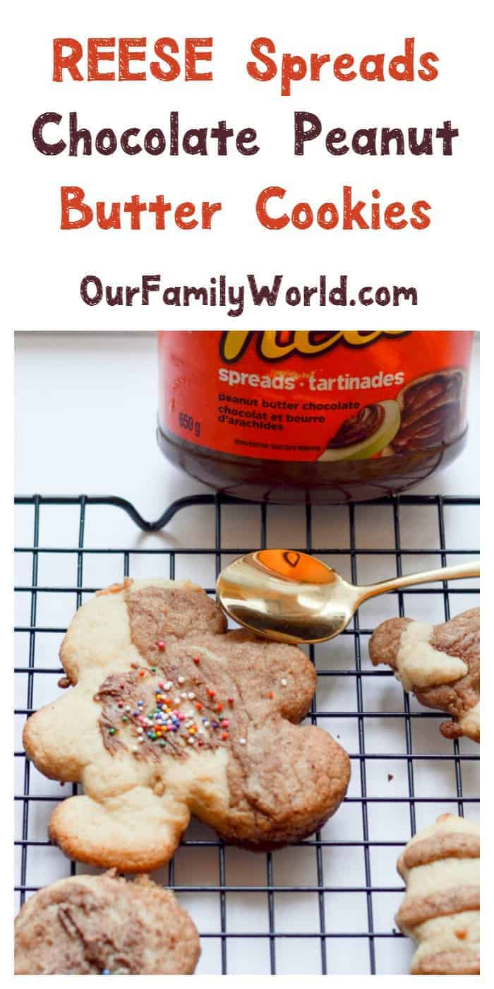 Need a fun & easy holiday cookie recipe that the kids can help make? Try these yummy REESE Spreads Chocolate Peanut Butter cookies!