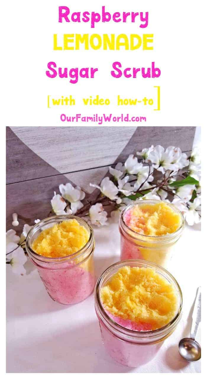 Looking for a divinely wonderful homemade Valentine's Day gift? Whip up a batch of this decadent raspberry lemonade sugar scrub!