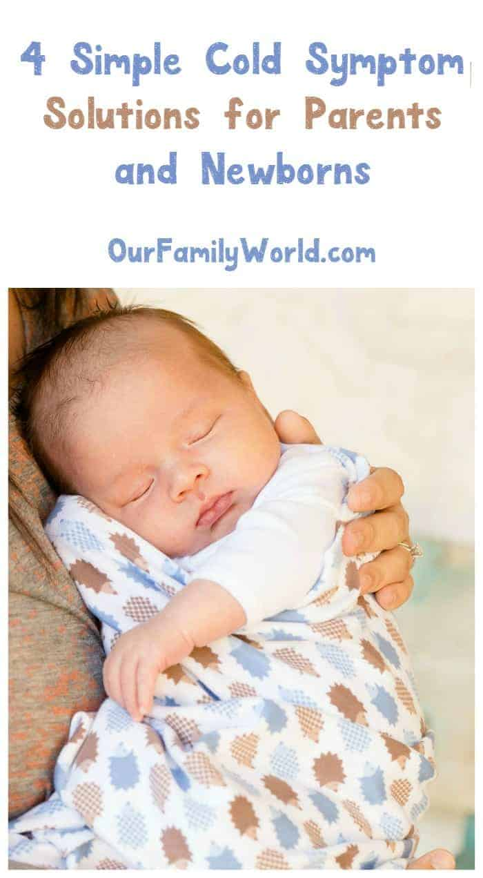 As far as milestones go, baby's first cold is one we'd all rather skip! Check out 4 simple cold symptom solutions for newborns!
