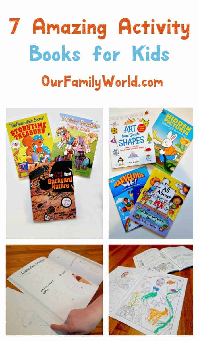 "Keep kids busy during the holiday travel season with 7 amazing activity books that will keep them from asking ""are we there yet?"""