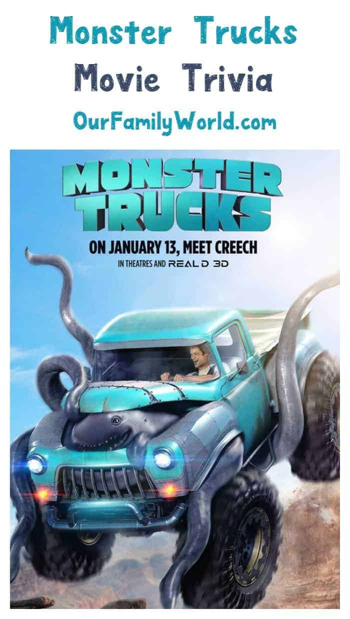 Looking for the coolest Monster Trucks movie trivia? We have it for you right here! Check out 8 fun facts about this new family movie!