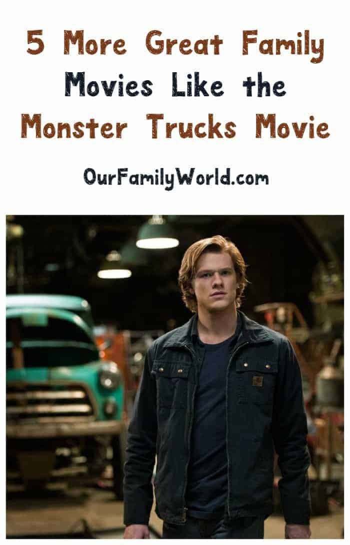Looking for a few more exciting family movies like Monster Trucks? We have 5 flicks that are just perfect for your next family movie night!