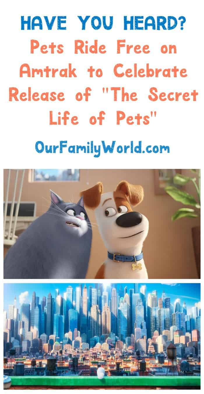 Have you heard? Pets ride free on Amtrak to celebrate The Secret Life of Pets release! Check out the details!