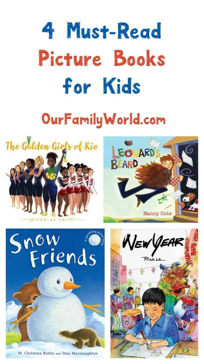 Looking for great holiday gift ideas? Check out these 4 must-read picture books for kids! They make perfect stocking stuffers!