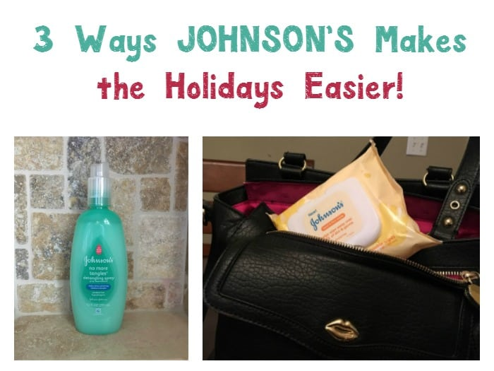 Planning on traveling with the kids this season? Check out three ways JOHNSON'S® baby products make the holidays easier for my family!