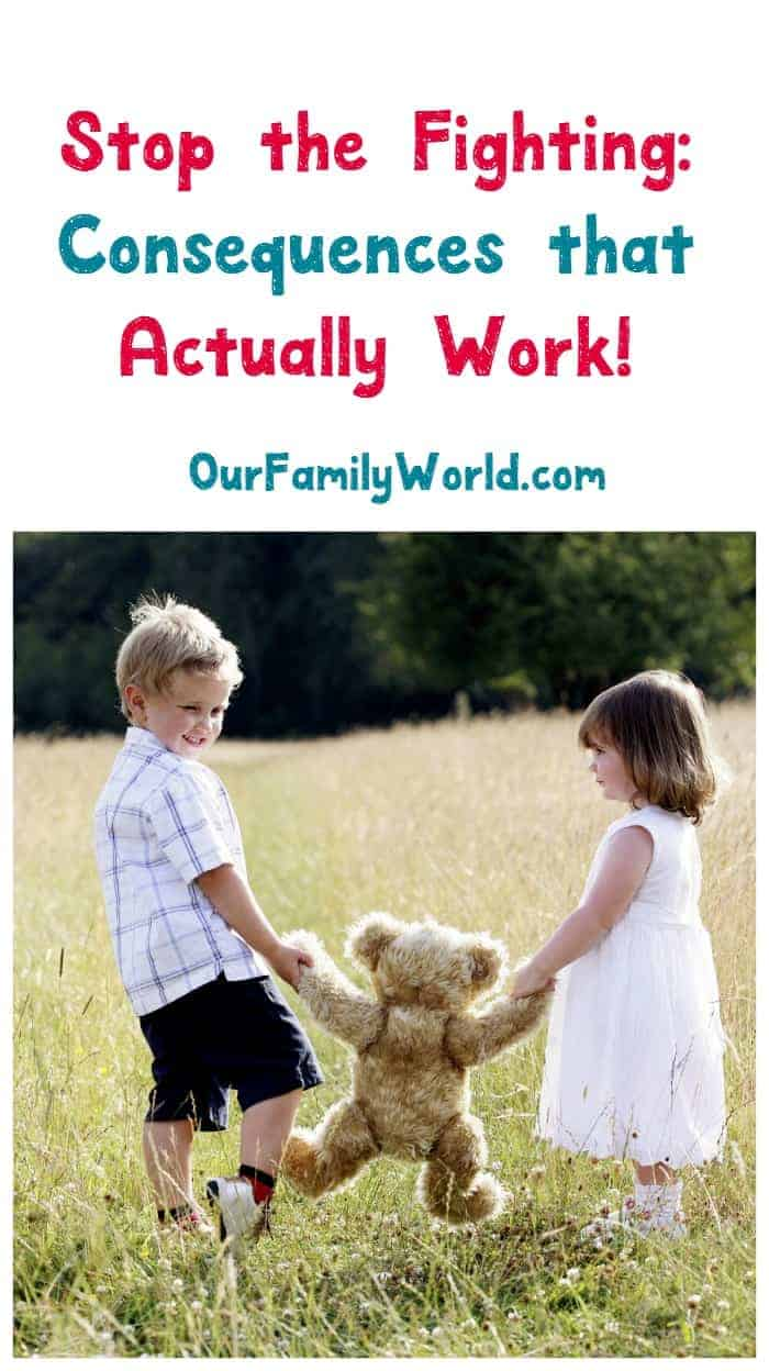 Tired of your kids fighting and misbehaving? Feel like you've tried everything with your toddlers? Check out our parenting tips for consequences that actually work!