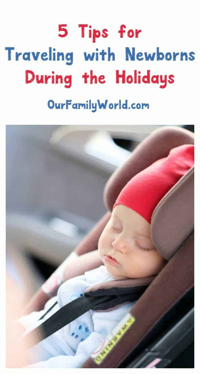 Traveling during the holidays with a newborn? Check out our tips to make it a little less stressful, including keeping little noses clear with hydrasense!