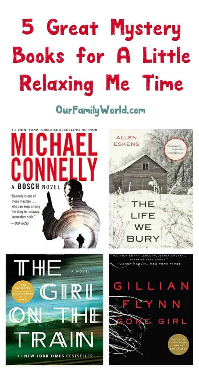 "Need some ""me"" time? Get lost in a good whodunit with these 5 great mystery books! Check them out!"