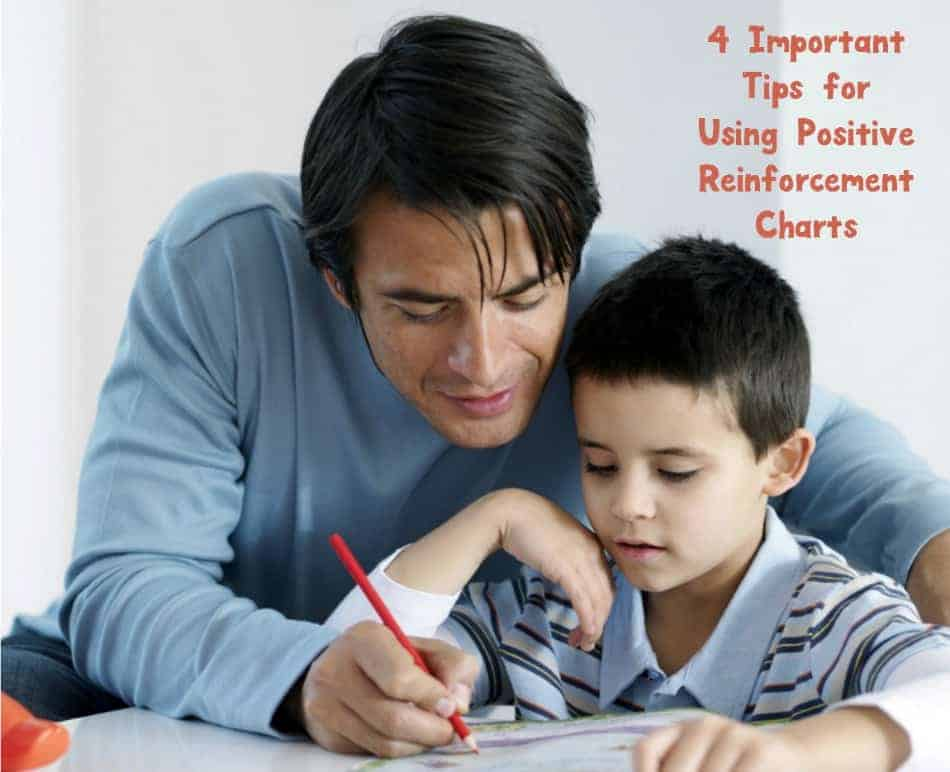 Positive reinforcement charts for kids are a fabulous parenting tool when you use them right! Check out four tips to get the most out of them!