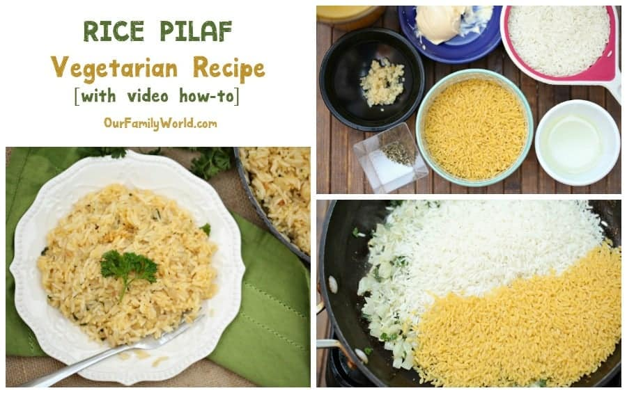 Need a quick and cheap vegetarian recipe? This Rice Pilaf is the ultimate easy dinner recipe! Check it out now!