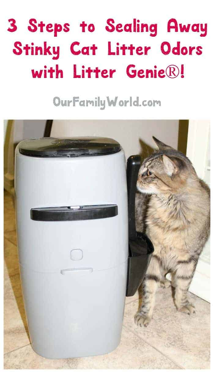 Is there anything worse than stinky cat litter box odors in your home? Seal it away in 3 easy steps with Litter Genie®! Check it out!