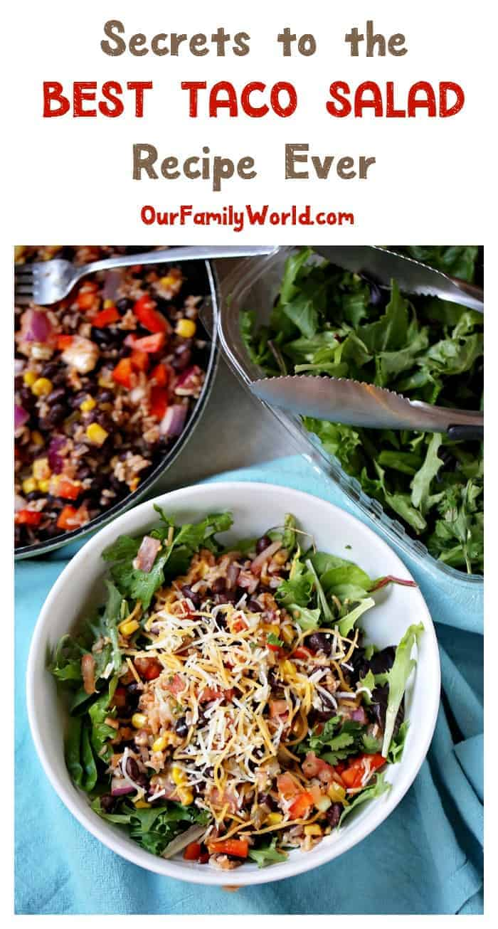 Want to make the best vegetarian taco salad ever? Check out our recipe plus the secret to making it extra tasty!