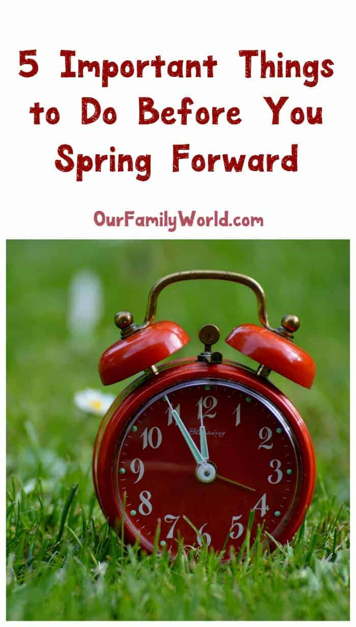 Warmer days ahead mean less time indoors dealing with household tasks! Prepare for Spring Forward by adding these important tasks to your to-do list and family calendars!