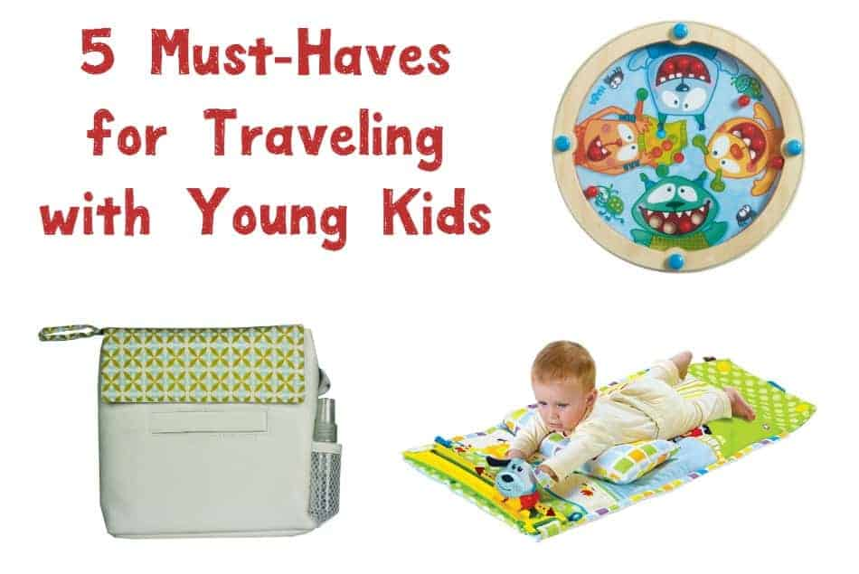 Time to start planning your summer family vacations! Before you hit the road (or the plane or train!), grab these 5 must-haves for traveling with young kids!