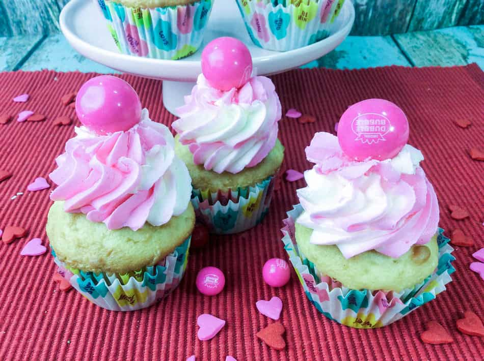 Looking for a fun and unique Valentine's Day dessert recipe? This bubble gum cupcake isn't just crazy cute, it's pretty easy to make, too! Let's check it out!