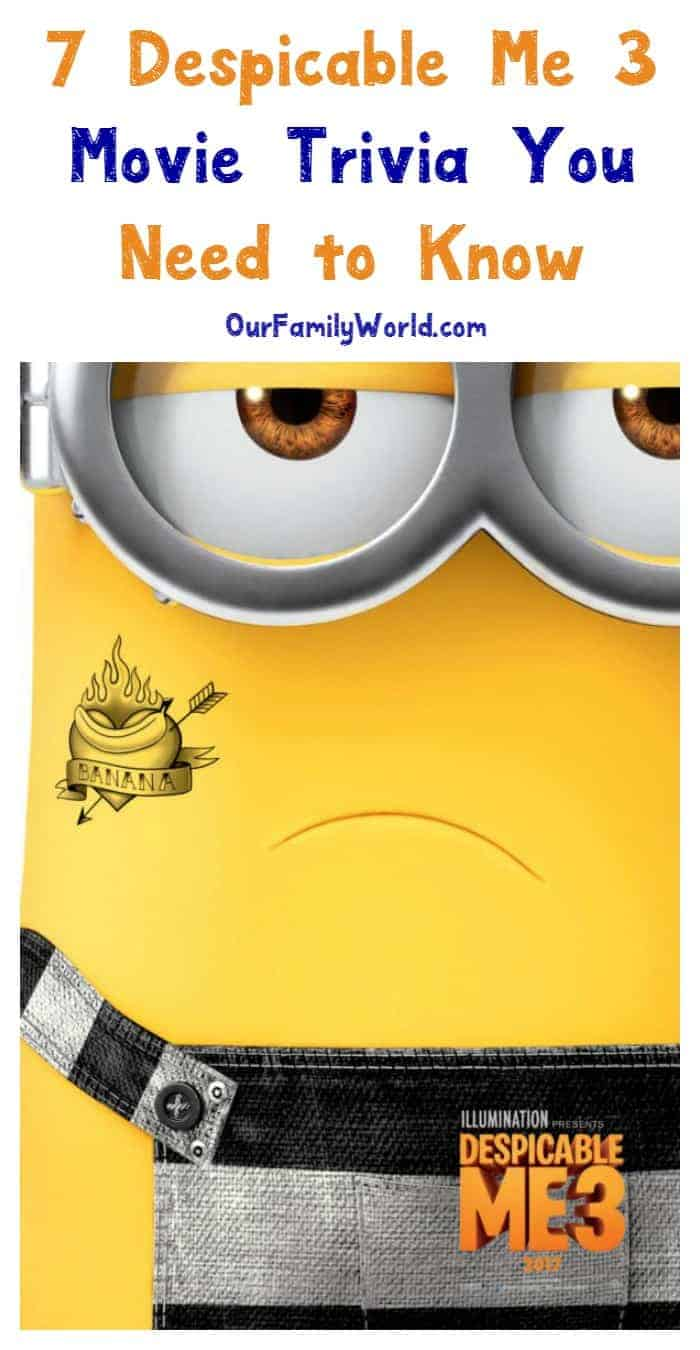 Check your Minion madness level with these 7 Despicable Me 3 movie trivia tidbits! How many did you know? Read them now