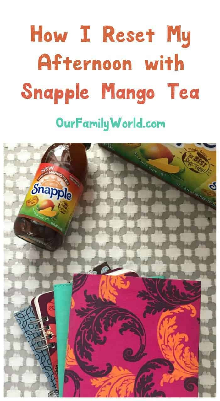 Feeling the midday slump coming on? Check out 3 creative ways to reset your afternoon with Snapple Takes 2 to Mango Tea, now available at Walmart!