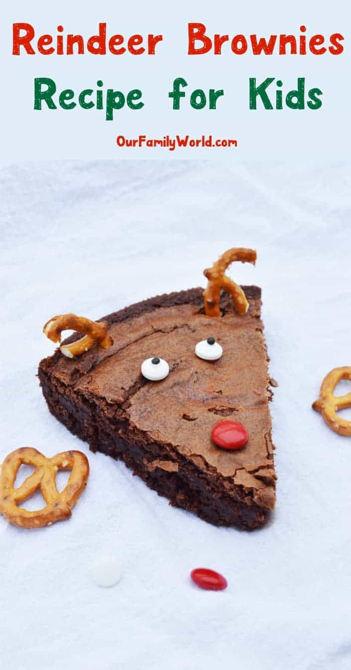 Looking For A Super Simple Christmas Dessert Recipe That Kids An Help Make These Reindeer Brownies Are Easy To Whip Up Yet Oh So Delightful Of All