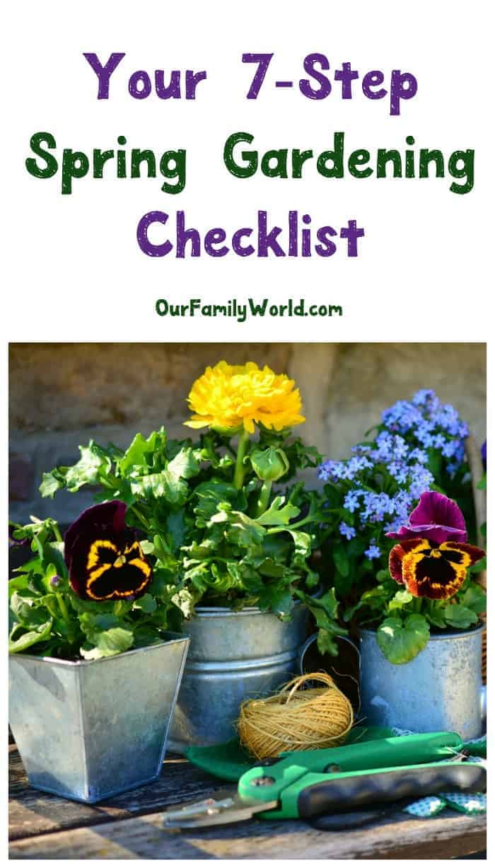 Ready, set, garden! Don't have a green thumb? No worries! Our spring gardening checklist will help even the worst gardener grow something beautiful!