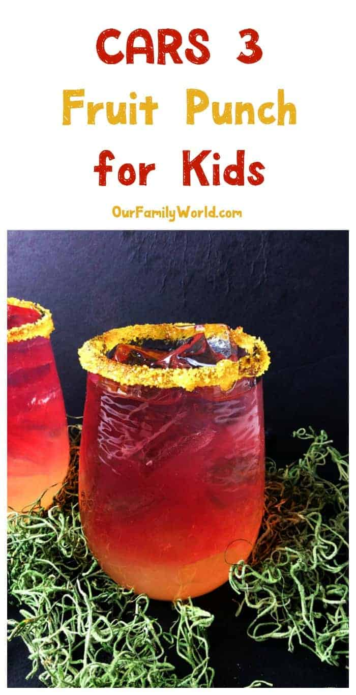 Give your Lightning McQueen fan a super special treat that will keep his motor running with this cute & tasty Cars 3 fruit punch recipe for kids! Check it out!