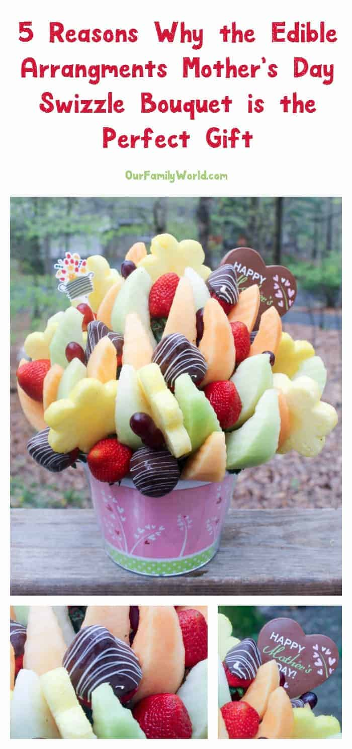 Still need the perfect Mother's Day gift? You can stop looking! Edible Arrangements Mother's Day Swizzle Bouquet is the one! Check out 5 reasons why!