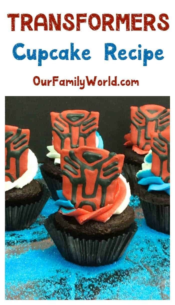 Throwing a party to celebrate the release of Transformers: The Last Knight? You have to make these cool Transformers cupcakes! Grab the recipe!