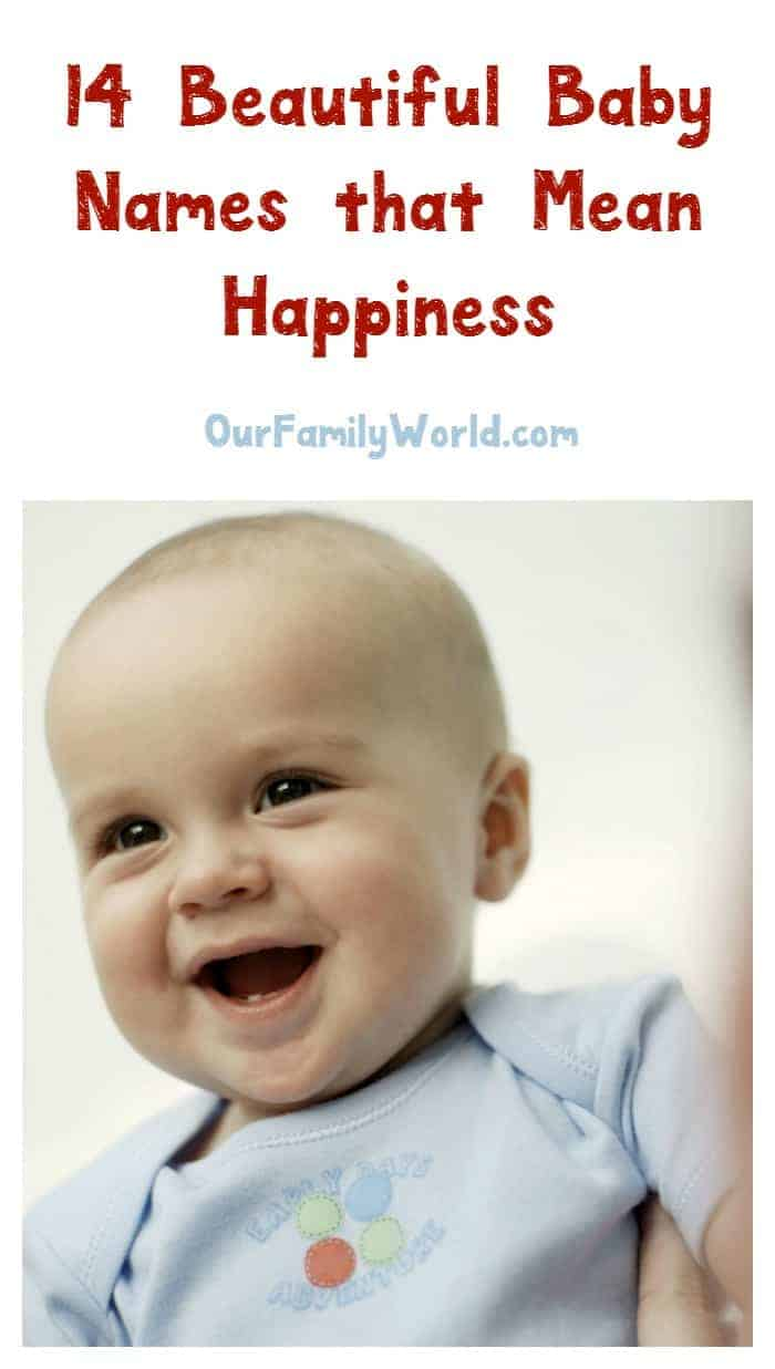 These 14 wonderful baby names mean happiness! How perfect are they for carrying the joy you felt when you found out you were pregnant all the way through your child's life?