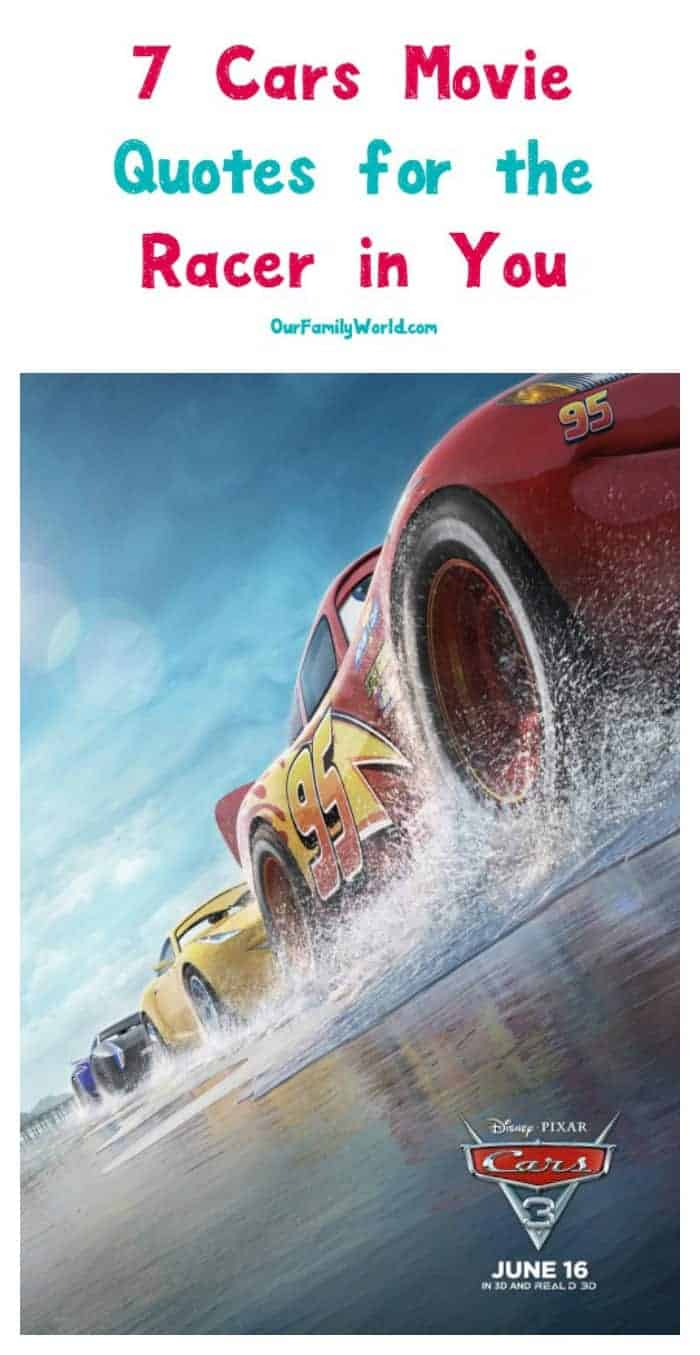 If these 7 cars movie quotes don't inspire the racer in all of us, I don't know what will! Check them out!