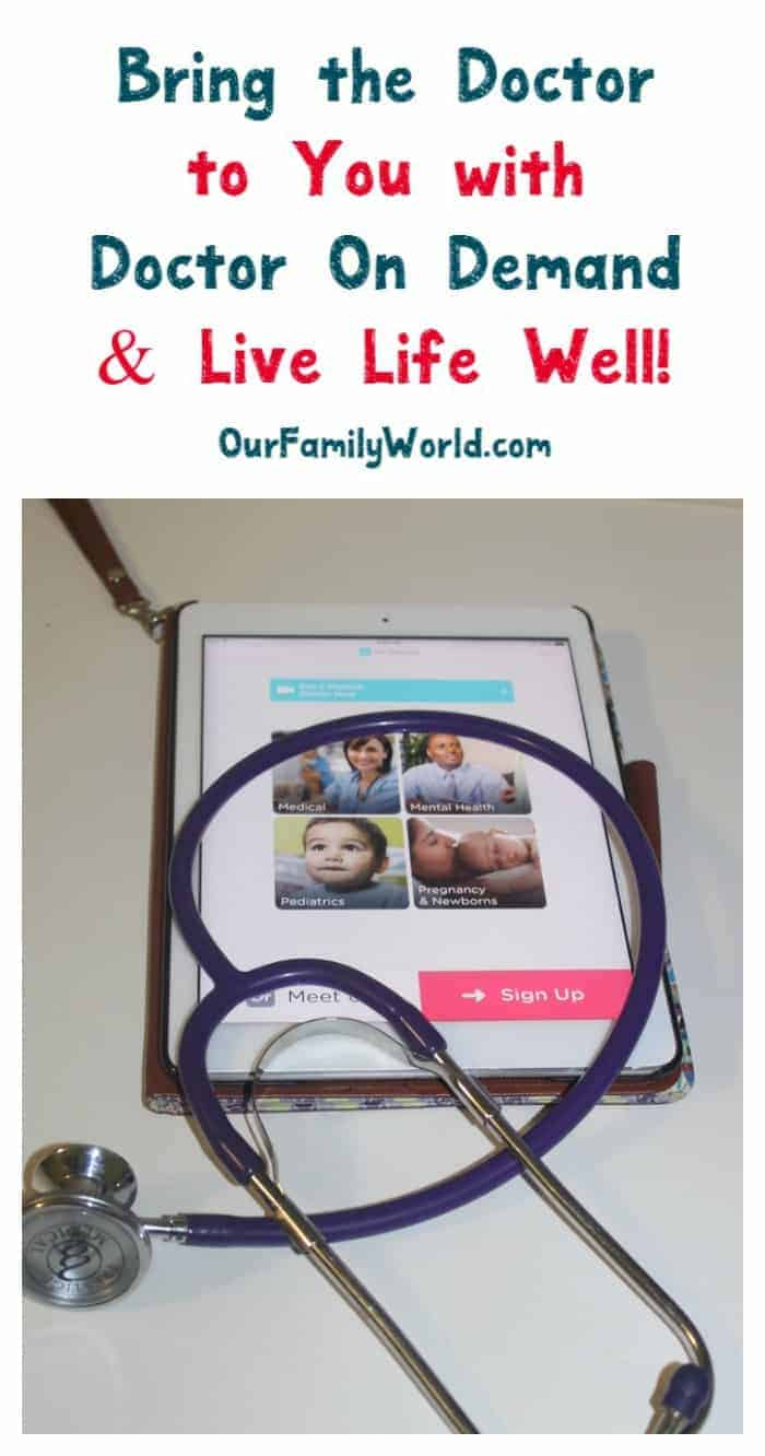 Don't have time to go to the doctor? Bring one to you with Doctor On Demand! Make them part of your Live Life Well plan! See how!