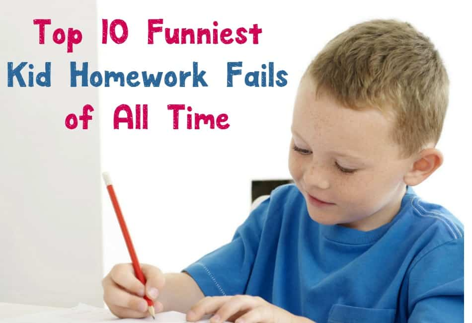We all know that kids say the darndest things. They also put the silliest answers on their homework! Check out the funniest kid homework fails ever!