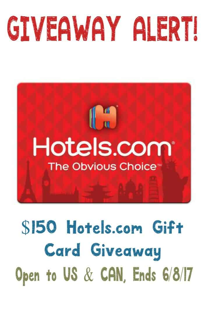 Enter for a chance to win a $100 Hotels.com gift card and kick off your summer family vacation planning! US & Can, ends 6/8/17!