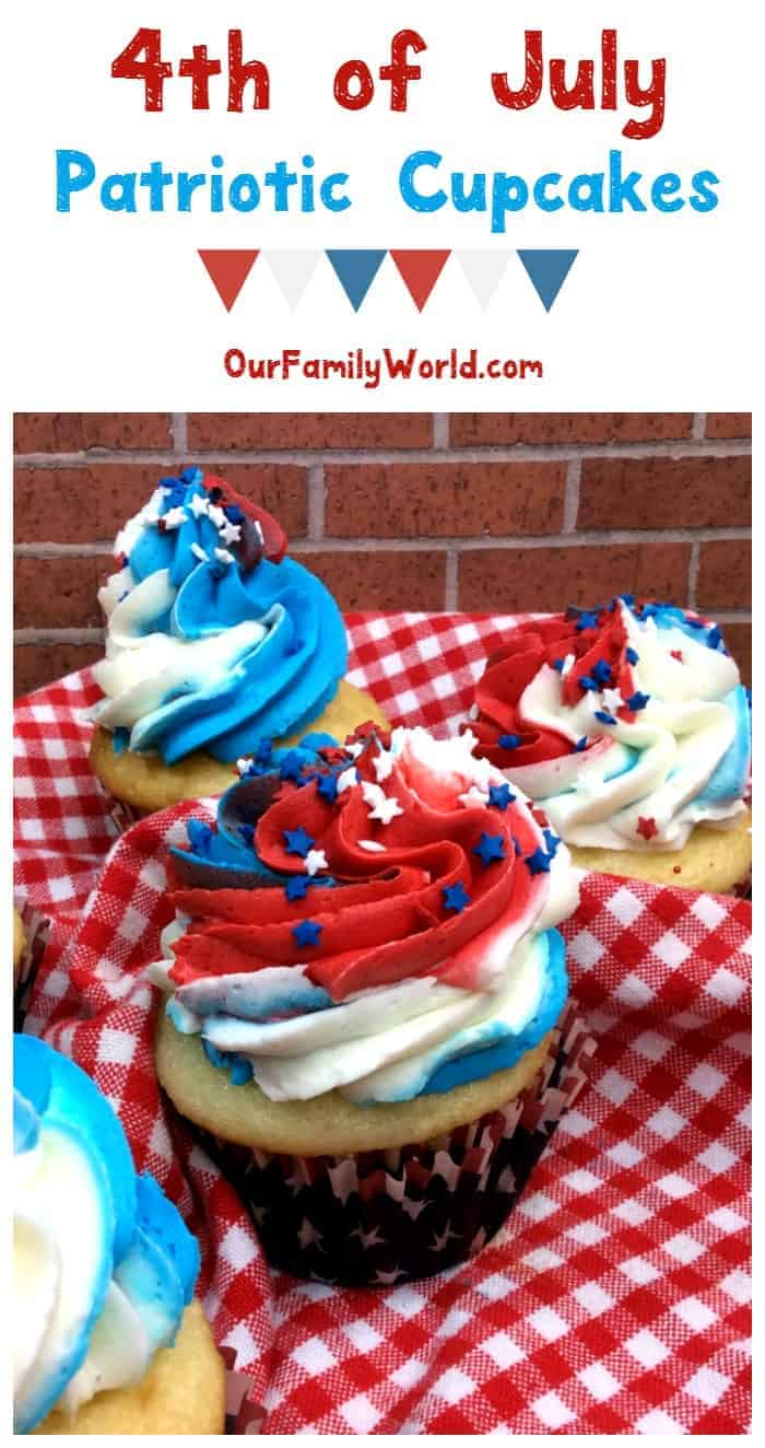 Show off your American pride & turn your 4th of July dessert table into a work of art with our patriotic cupcakes recipe! Check it out!