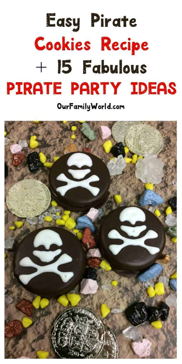 Planning a pirate party? With these perfect ideas & one amazing pirate cookie recipe, none of your guests will want to walk the plank! Trust us, that's a good thing! Arrr!