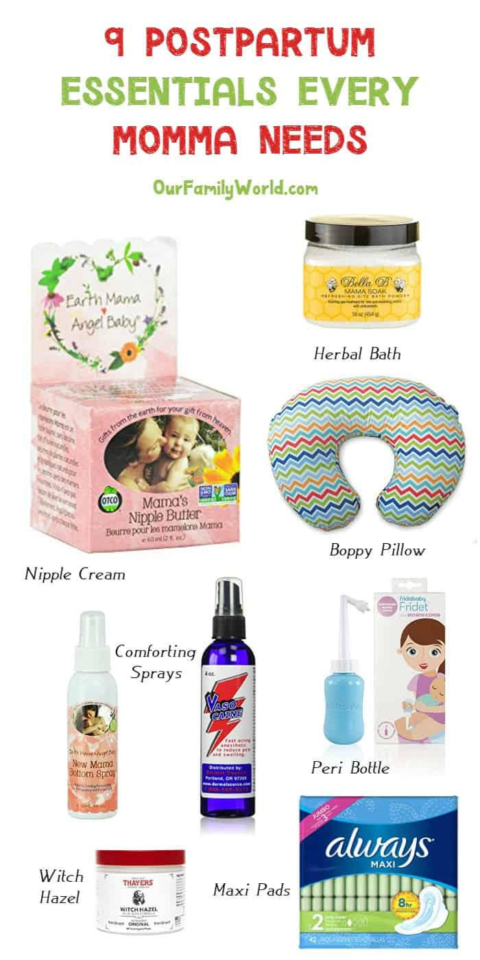 Making your baby registry? Don't forget something for yourself! Check out 9 postpartum essentials that every momma needs to have!