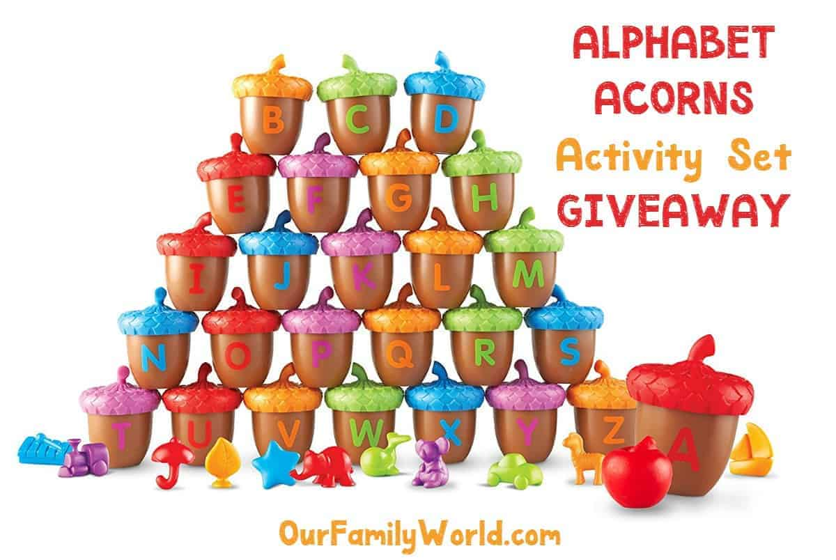 Looking for fun ways to turn summer brain drain into brain gain? Host an alphabet scavenger hunt! We'll tell you how, plus give you a chance to win a fun set of Alphabet Acorns to make it easy!