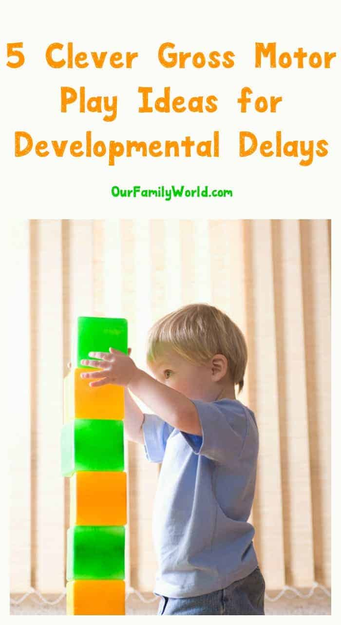 Trying to encourage your tot towards milestones & overcome developmental delays? Give these gross motor play tactics a go.