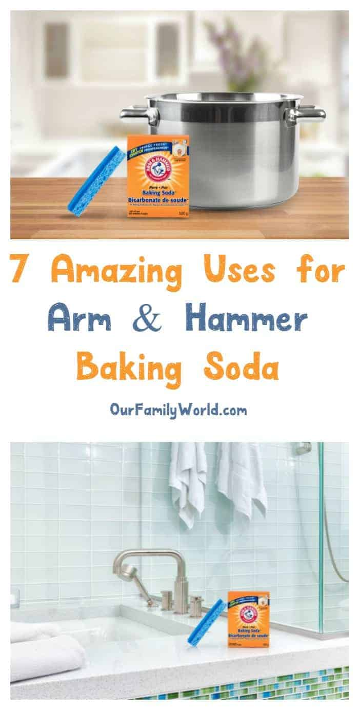 Did you know that Arm & Hammer Baking Soda has over 100 different uses around the home? Check out 7 of our favorite uses now!