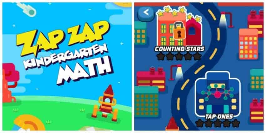 Check out our Zap Zap Kindergarten Math app review to find out why we love using this fun game to stop summer slide in its tracks!