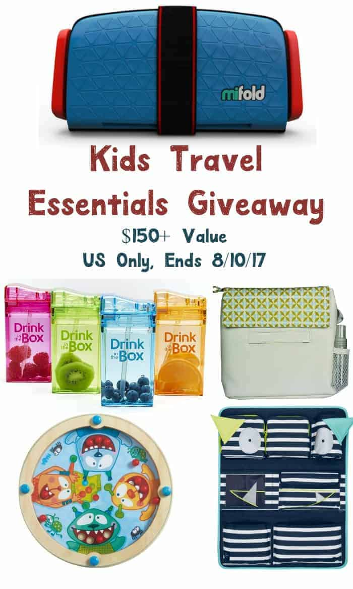 Enter for a chance to win a $150 kids' travel essential prize pack! Open to US residents age 18+, ends 8/10/17!
