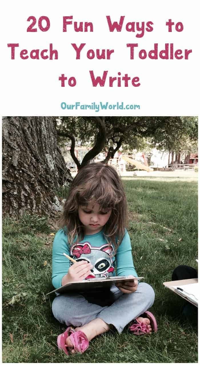 Looking for fun ways to teach your toddler to write? Check out these 20 fun writing activities that even the littlest ones can master with ease!
