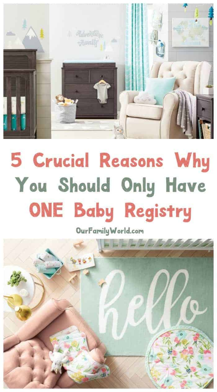 Think signing up for more than one baby registry is a brilliant idea? Think again! Check out 5 crucial reasons why you only need ONE registry!