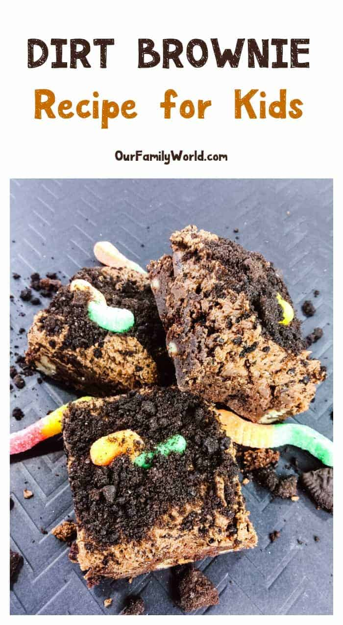 Looking for the perfect Halloween recipe for kids? This ultimate dirt brownie recipe is perfect for parties yet easy enough for a quick special treat! Check it out!