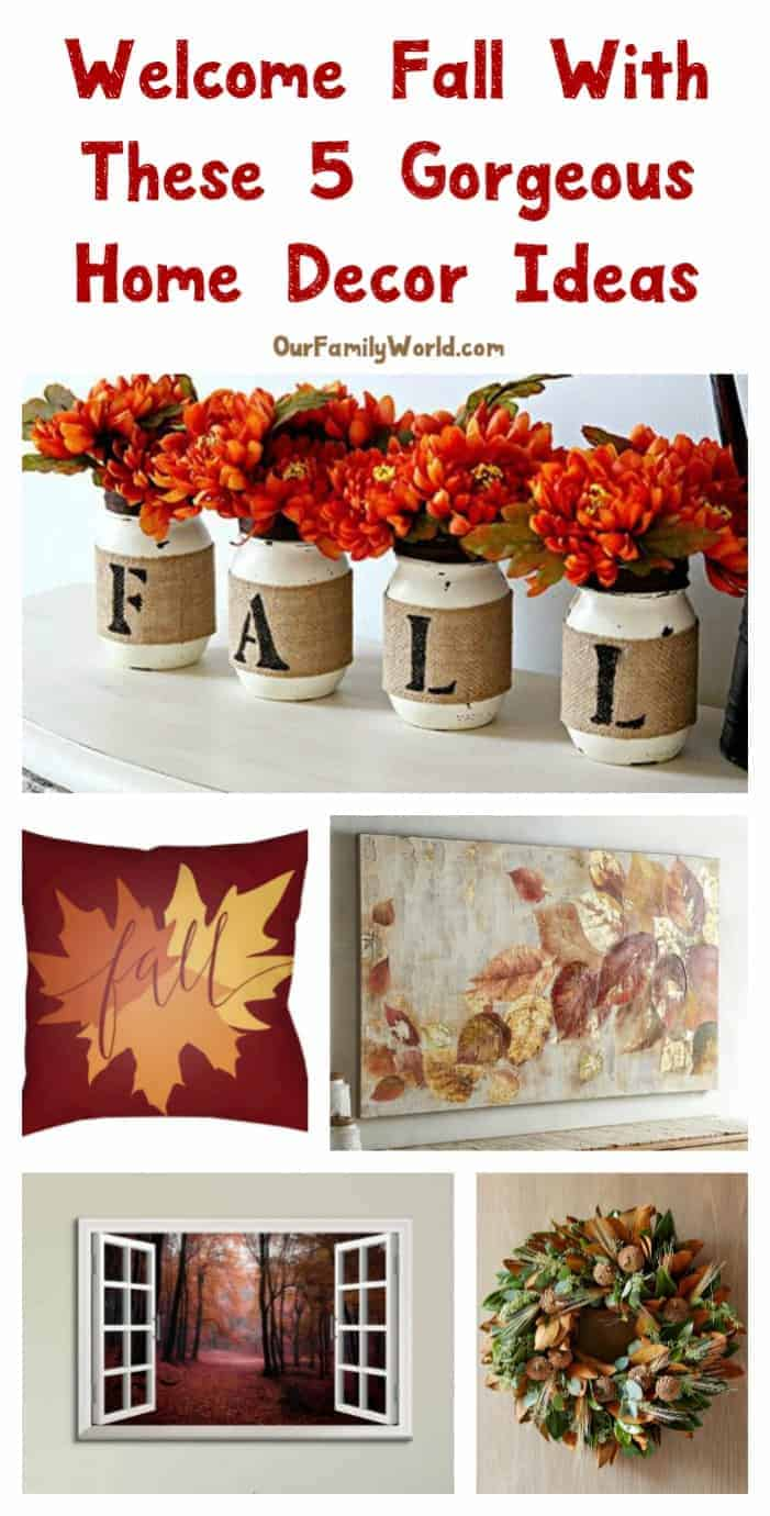 Welcome fall with these 5 gorgeous home decor ideas our for Welcome home decorations ideas