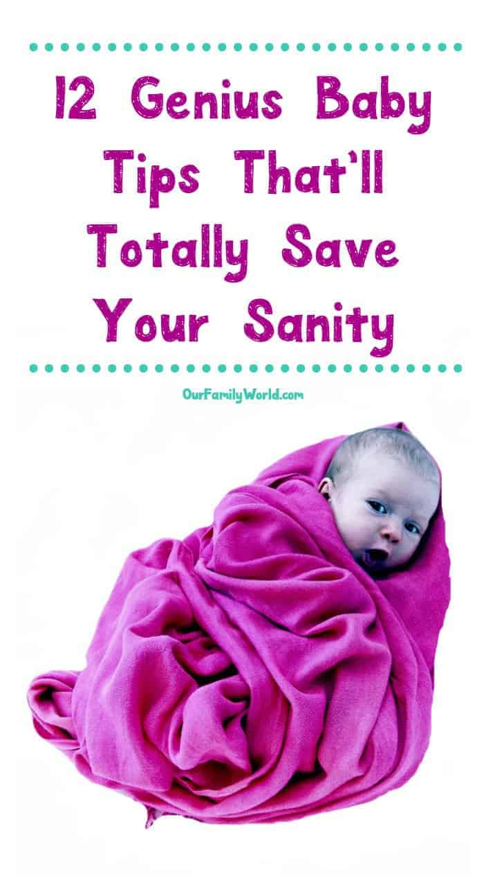 Being a brand new parent doesn't have to be so overwhelming thanks to these 12 baby tips that will totally save your sanity! Check them out!